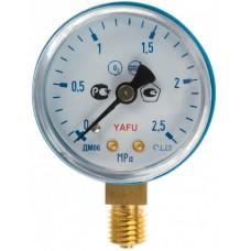 Манометр на редуктор кислородный 2,5 МПа (25 кгс/см кв,кл. т. 2,5)
