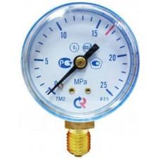 Манометр на редуктор кислородный 25 МПа (250 кгс/см кв, кл. т. 2,5)
