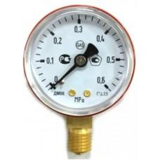 Манометр на редуктор пропановый,метановый 0,6 МПа (6 кгс/см кв,кл. т. 2,5)
