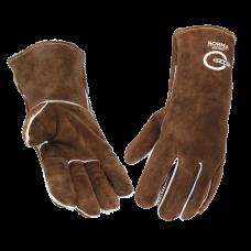Norma STG1200, Краги спилковые, Kevlar (коричневые) (6/60)